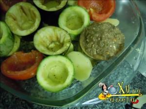 preenchendo os legumes