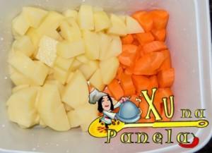 batata e cenoura cortadas