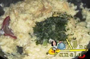 cheiro verde no risoto