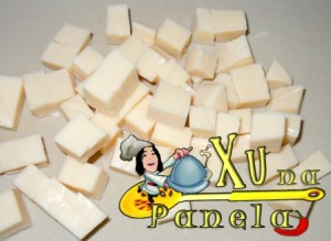 queijos em cubos