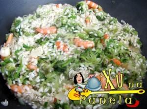 fritar o arroz