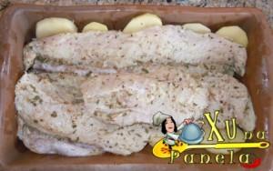 peixe abrotea assado
