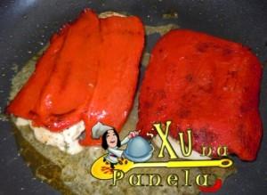 frango com pimentão vermelho