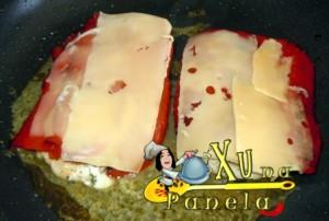 frango com pimentão e queijo