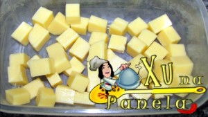 queijo em cubos