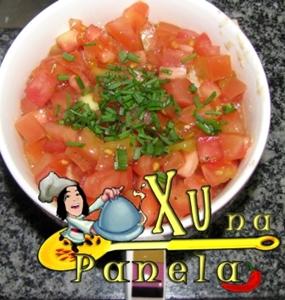 arroz com tomate e carne