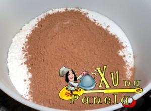 açúcar farinha e chocolate