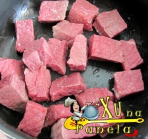 tirando o sal da carne seca