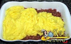 carne seca com pure de mandioquinha batata baroa