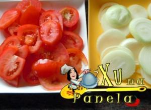 tomate e cebolas em rodelas