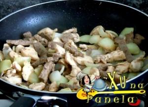 frango e carne para yakisoba