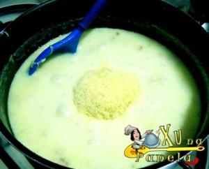 queijo parmesão ralado no caldo