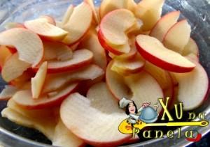 semi-luas de maçãs