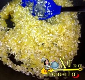 refogar o arroz