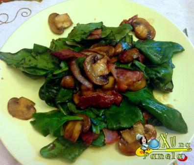 salada quente de espinafre 04